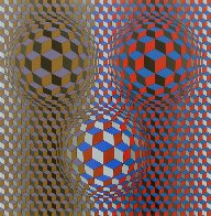Nebulus II 1980 Limited Edition Print by Victor Vasarely - 0