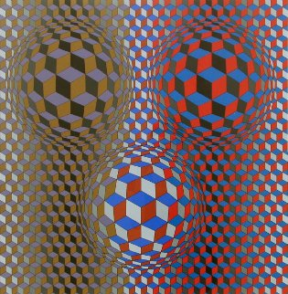 Nebulus II 1980 Limited Edition Print - Victor Vasarely