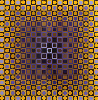 Permutations Alom 1968 Limited Edition Print - Victor Vasarely