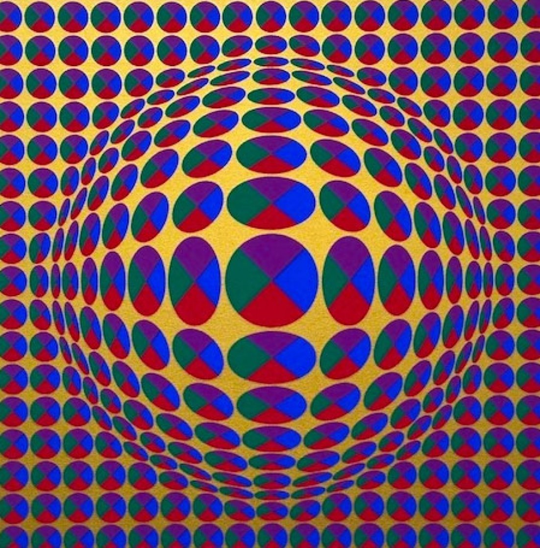 Neptune, From Eight Impressions 1970 Limited Edition Print by Victor Vasarely