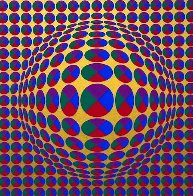 Neptune, From Eight Impressions 1970 Limited Edition Print by Victor Vasarely - 0