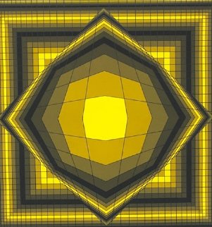 Untitled Yellow 1970 Limited Edition Print - Victor Vasarely