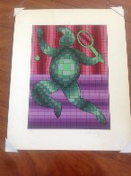 Tennis Player 2 1987 Limited Edition Print by Victor Vasarely - 1