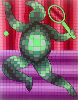 Tennis Player 2 1987 Limited Edition Print by Victor Vasarely - 0
