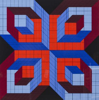 Untitled Serigraph 1976 Limited Edition Print - Victor Vasarely