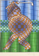 Golfer Limited Edition Print by Victor Vasarely - 1