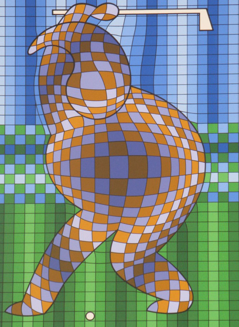 Golfer Limited Edition Print by Victor Vasarely