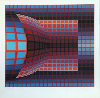 Optical Cube 1975 Limited Edition Print by Victor Vasarely - 1