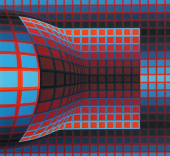Optical Cube 1975 Limited Edition Print - Victor Vasarely