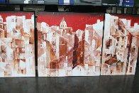 Lisbon Triptych 2004 Super Huge Original Painting by Valeriy Vaskov - 2