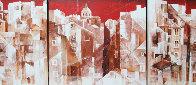 Lisbon Triptych 2004 Super Huge Original Painting by Valeriy Vaskov - 0
