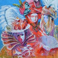 Masquerade Watercolor 2013 40x40 Huge Watercolor by Valeriy Vaskov - 0