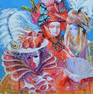 Masquerade Watercolor 2013 40x40 Huge Watercolor - Valeriy Vaskov