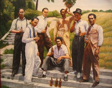Homeboys Circa 1939 Limited Edition Print by Emigdio Vasquez