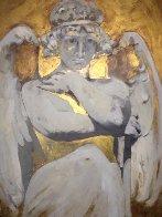 Angel DI Capri 2011 28x38 Original Painting by Margaret Vega - 0