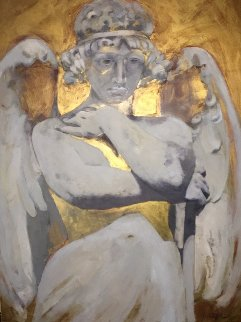 Angel DI Capri 2011 28x38 Original Painting - Margaret Vega