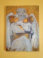 Angel DI Capri 2011 28x38 Original Painting by Margaret Vega - 1