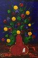 Poppy's 2003 47x37 Original Painting - Dean Vella