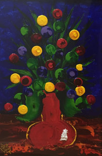 Poppy's 2003 47x37 Original Painting - Dean Vella