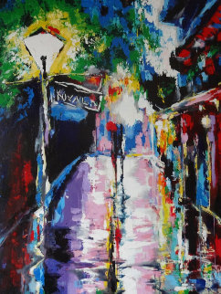 Pirates Alley - After Rain 2008 58x39 Original Painting by Vena Grebenshikov