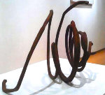 Two Undetermined Unes Steel Sculpture Sculpture - Bernard  Venet