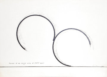 Position of Two Major Arcs of 257.5 Each 1980 Limited Edition Print - Bernar Venet