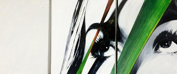 Stare III Triptych 2005 24x72 Original Painting by James Verbicky