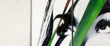 Stare III Triptych 2005 24x72 Super Huge Original Painting - James Verbicky