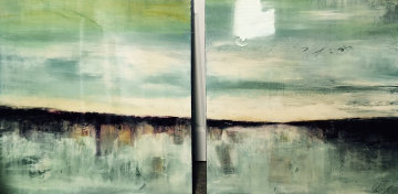 Of the Earth Diptych 2008 36x36 Original Painting by James Verbicky