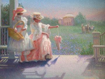 Surprise Visit 34x40 Huge Original Painting - James Verdugo