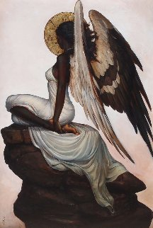 Seraphim 2: High Vigil 2016 36x24 Original Painting - Sequoia C.  Versillee