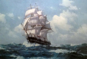 U.S.S.  Constitution - Old Ironsides With Remarque 1987 Limited Edition Print - Charles Vickery