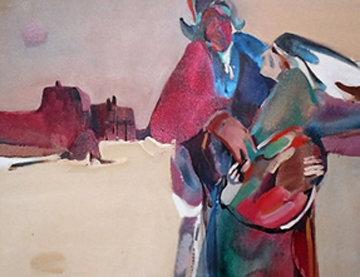 Strong Heart 1980 44x34 Huge Original Painting - Veloy Vigil