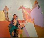 Cottonwood 1985 60x75 Original Painting - Veloy Vigil
