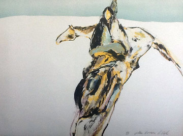 Yellow Horse PP 1978 Limited Edition Print by Veloy Vigil