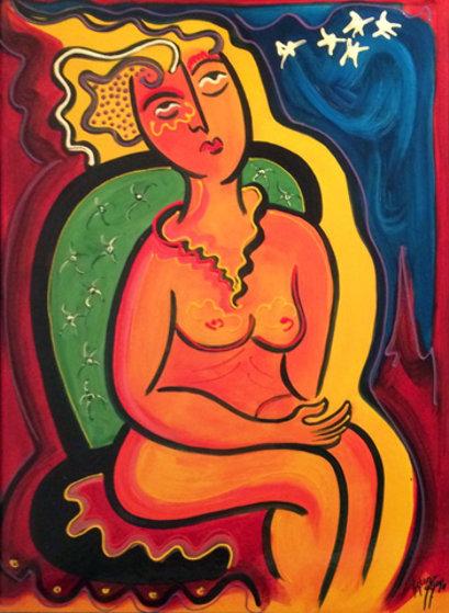 Untitled Painting 1999 36x28 Original Painting by Silvio Vigliaturo