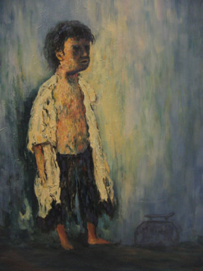 Little Boy Blue 36x24 Original Painting by John Vignari