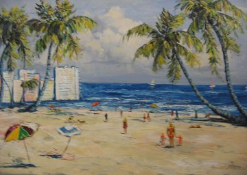 Beach  24x36 Florida Original Painting - John Vignari
