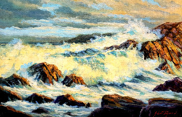 Big Sur 1967 29x41 Original Painting - John Vignari