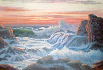 Ageless Sea 1974 24x36 Original Painting by John Vignari