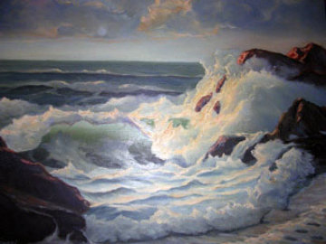 Translucent Wave 36x30 Original Painting by John Vignari