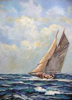 Elizabeth Howard, White Ghost, Fishing Banks 24x18 Original Painting by John Vignari