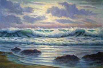 Light on the Seas 24x36 Florida Original Painting by John Vignari