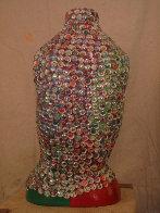 Maria Quatro Sculptural Mosaic with Glass Beads 25 in Sculpture by Kay Villalobos - 1