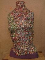 Maria Quatro Sculptural Mosaic with Glass Beads 25 in Sculpture by Kay Villalobos - 0