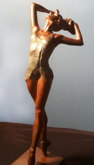 Denise Ballerina Bronze Sculpture 20 in Sculpture - Victor Villarreal