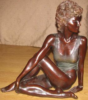 Ballarina En Reposo Bronze Sculpture 17 in Sculpture by Victor Villarreal