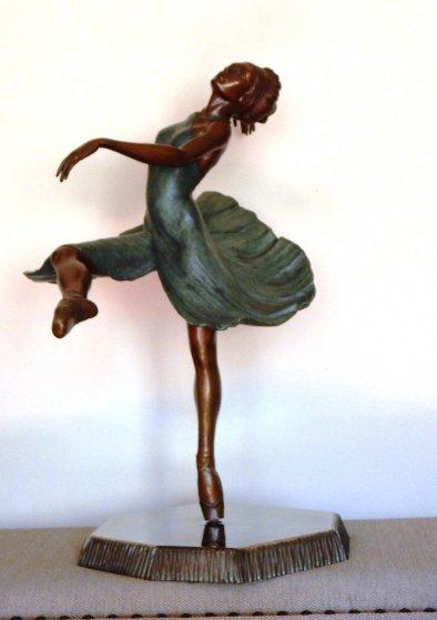 Ballerina Bronze Sculpture 28 in Sculpture by Javier Villarreal