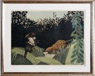 La Chasse Au Tigre (Ginestet-Pouillon 641) 1924 Limited Edition Print by Jacques Villon - 1