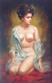 Untitled Painting 42x30 Huge Original Painting - Larry Garrison Vincent